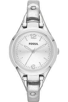 FOSSIL ES3412 Georgia stainless steel and leather watch