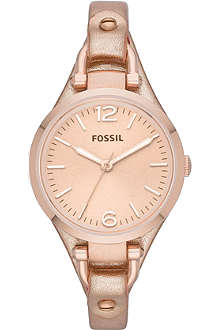 FOSSIL ES3413 Georgia rose gold-plated watch
