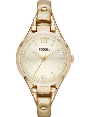 FOSSIL ES3414 Georgia gold-plated watch