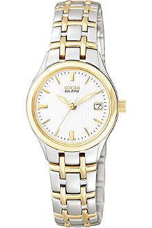 CITIZEN EW126450A Silhouette steel and gold-plated dress watch