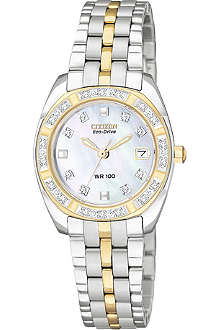 CITIZEN EW159455D Paladion steel and gold-plated dress watch