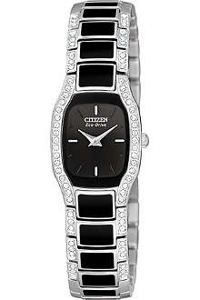 CITIZEN EW978057E Normandie Swarovski-encrusted stainless steel watch