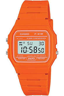 CASIO F91WC4A2EF unisex resin and silicone digital watch
