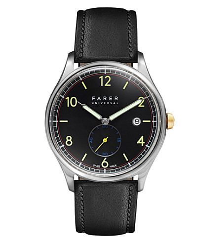 FARER Frobisher stainless steel watch (Black
