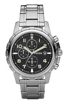 FOSSIL FS4542 Dean stainless steel chronograph watch