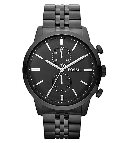 FOSSIL FS4787 Townsman stainless steel chronograph watch (Black