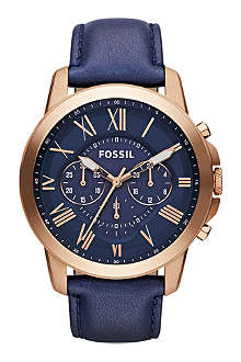 FOSSIL FS4835 Grant chronograph leather watch
