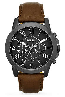 FOSSIL FS4885 Grant leather watch