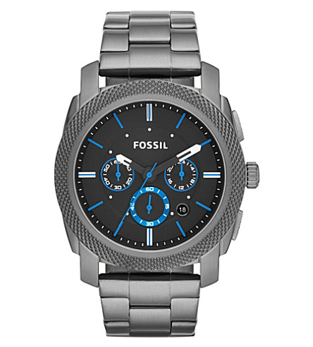 FOSSIL FS4931 Machine stainless steel watch (Black