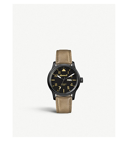 INGERSOLL Hatton Automatic brown leather watch