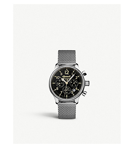 INGERSOLL Aspley I02901 stainless steel chronograph watch