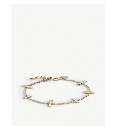 ROSEFIELD Mulberry 18ct gold-plated bracelet
