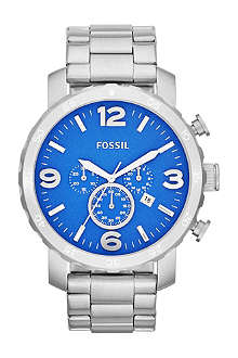 FOSSIL JR1445 Nate chronograph stainless steel watch
