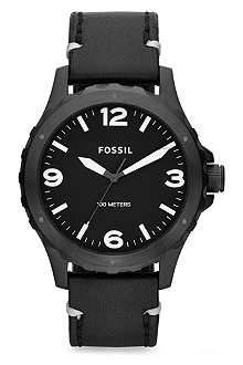 FOSSIL JR1448 Nate leather watch