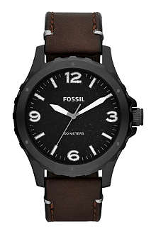 FOSSIL JR1450 Nate leather watch