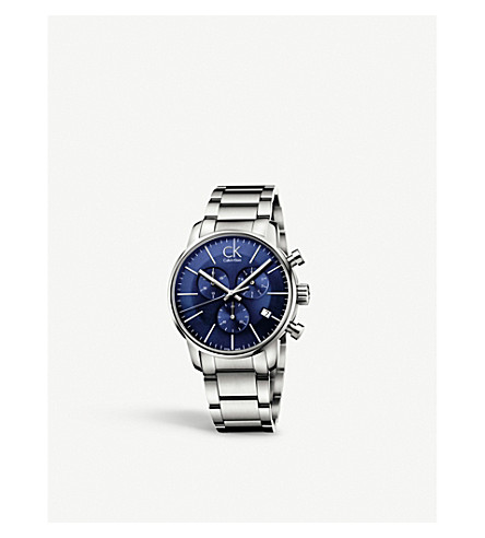 CALVIN KLEIN K2G2714N City stainless steel chronograph watch