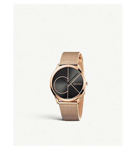 CALVIN KLEIN K3M21621 Minimal PVD rose gold-plated watch