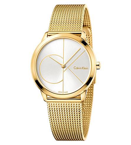 CALVIN KLEIN K3M22526 gold-plated stainless steel watch