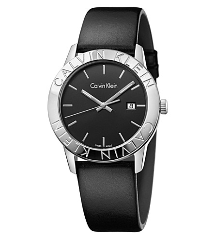 CALVIN KLEIN K7Q211C1 Steady stainless steel and leather watch