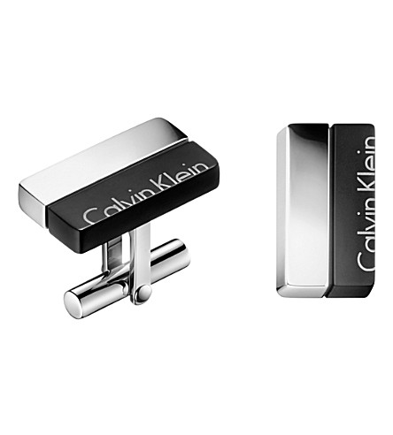 CALVIN KLEIN Boost stainless steel cufflinks
