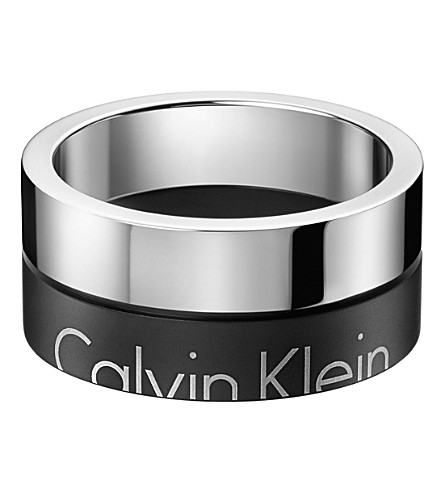 CALVIN KLEIN Boost two-tone stainless steel ring