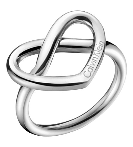 CALVIN KLEIN Charming stainless steel knotted heart ring