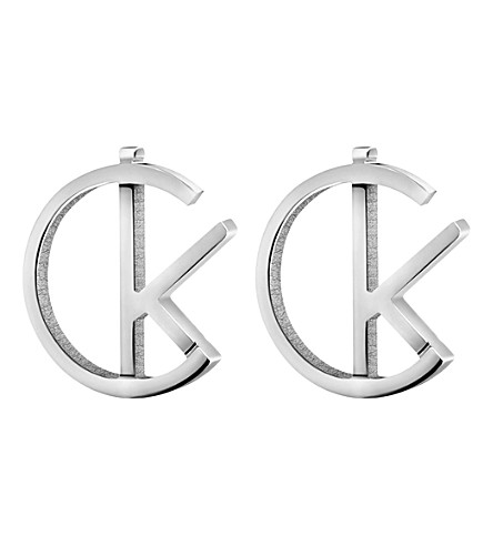 CALVIN KLEIN League stainless steel stud earrings