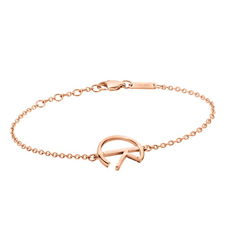CALVIN KLEIN League rose-gold tone stainless steel bracelet