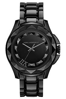 KARL LAGERFELD WATCHES KL1001 round stainless steel watch
