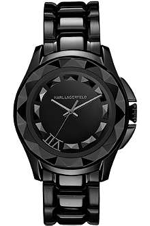 KARL LAGERFELD WATCHES KL1002 round stainless steel watch