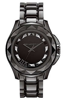 KARL LAGERFELD WATCHES KL1003 round stainless steel watch