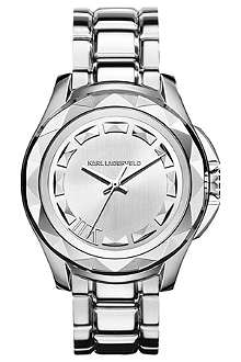KARL LAGERFELD WATCHES KL1004 round stainless steel watch