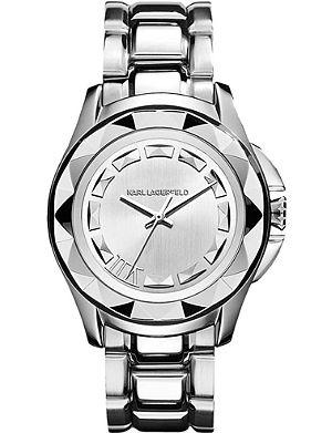 KARL LAGERFELD WATCHES KL1005 round stainless steel watch