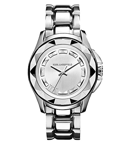 KARL LAGERFELD WATCHES KL1005 round stainless steel watch (Silver