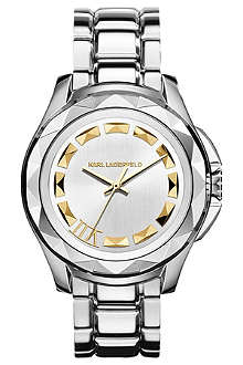 KARL LAGERFELD WATCHES KL1007 round stainless steel watch