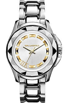 KARL LAGERFELD WATCHES KL1008 round stainless steel watch