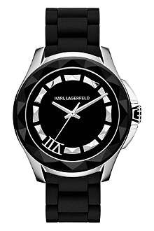 KARL LAGERFELD WATCHES KL1013 round stainless steel watch