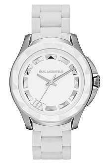 KARL LAGERFELD WATCHES KL1014 round stainless steel watch