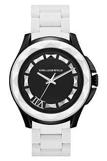 KARL LAGERFELD WATCHES KL1015 round monochrome watch