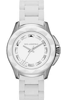 KARL LAGERFELD WATCHES KL1016 round stainless steel watch