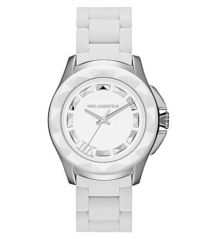 KARL LAGERFELD WATCHES KL1016 round stainless steel watch