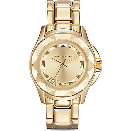 KARL LAGERFELD WATCHES KL1020 gold-plated unisex watch (Gold