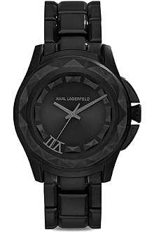 KARL LAGERFELD WATCHES KL1022 black stainless steel unisex watch
