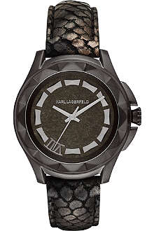 KARL LAGERFELD WATCHES KL1039 Karl 7 snake-effect watch