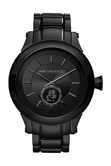 KARL LAGERFELD WATCHES Kl1201 round stainless steel watch