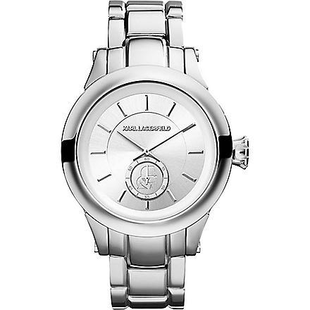 KARL LAGERFELD WATCHES KL1204 round stainless steel watch (Silver