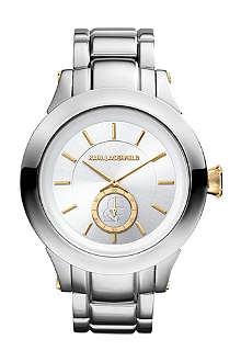 KARL LAGERFELD WATCHES KL1209 round stainless steel watch