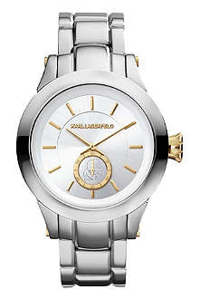 KARL LAGERFELD WATCHES KL1210 round stainless steel watch