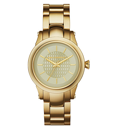 KARL LAGERFELD WATCHES KL1220 Gold-toned slim chain watch (Gold