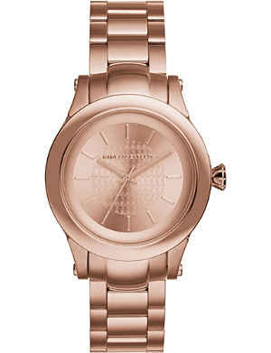 KARL LAGERFELD WATCHES KL1223 Karl Chain rose gold-toned stainless steel watch